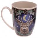 Tasse Porcelaine Cerf Empereur Lisa Parker