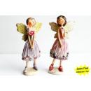 grossiste Figurines & Sclulptures: Elfes debout avec  des robes de rose et violet