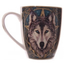 Porcelain Mug  Celtic Wolf Head Lisa Parker