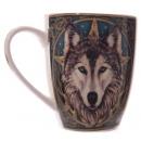 Tasse En Porcelaine Tête De Loup Celtique Lisa Par