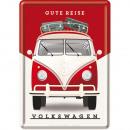 Großhandel Geschenkartikel & Papeterie:BlechpostkarteVolks wagen10 x 14cm
