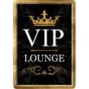 Großhandel Geschenkartikel & Papeterie: Blechpostkarte Vip Lounge 10 x 14cm