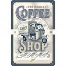 Großhandel Geschäftsausstattung: Blechschild Ape Coffee 20 x 30cm