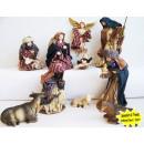 Krippefiguren mit Kleider 10-teilig 17cm Weihnacht