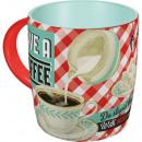 Großhandel Tassen & Becher: Tasse Keramik Retro 0,33 l
