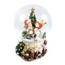 grossiste Boules de neige: boîte à musique  globe neige 150mm pour tirer 20cm