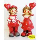 Großhandel Geschenkartikel & Papeterie: Clowns mit Herzluftballon