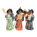 groothandel Reinigingsproducten: Heksen staan met bezem 36cm