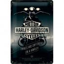 Großhandel Bilder & Rahmen: Blechschild Harley - Davidson 20 x 30cm