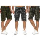 wholesale Shorts: Men Men Capri  Cargo Bermuda Camouflage Short