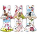 Enfants fille tendance d'été robe chat licorne