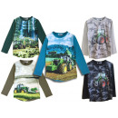 Kids Boys Tractor Sweatshirt Long Sleeve Sweater