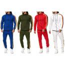 Men's trend stripe jogging suit sports suit