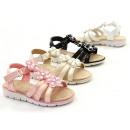 Großhandel Fashion & Accessoires: Kinder Mädchen  Sommer Sandale Blumen Strass Steine