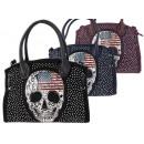 Ladies bags skull applique imitation leather