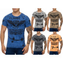 Großhandel Shirts & Tops: Herren Men Kurzarm T-Shirts Rundhals Motivdruck