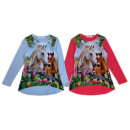 Kids Girls Horses Flowers Sweatshirt Shirt