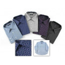wholesale Shirts & Blouses: 60 x gentlemen striped Business Men's Shirts M