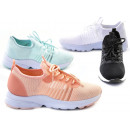 Damen Trend Sneaker Transparent Bunt Schnür Schuhe