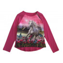 Kids Girls Trend Pullover Sweatshirt Horse Zip