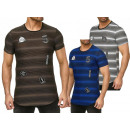 Großhandel Shirts & Tops: Herren Men Kurzarm Applikation Patches T-Shirts