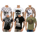wholesale Shirts & Tops: Men's Short  sleeve T-shirt Round neck skull