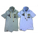 Children T-Shirt patch sweatshirt collar with cord
