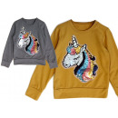 Children's girls sweater unicorn sequin glitte