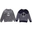 Großhandel Pullover & Sweatshirts: Kinder Jungen Pullover Streifen Anker Maritim