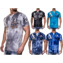 Herren Polohemd  Washed V-Neck T-Shirt Shirt