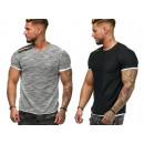 Men's Men's Trend Stripe T-Shirt Basic Shi