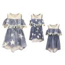 Gyerek gyerekek lányok farmer ruha Volant Off-Shou