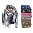Women's Trend Winter XXL Scarf Star Stole Ponc