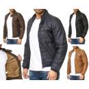 Veste en cuir tendance pour hommes Veste de moto à