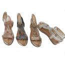 Ladies Woman Summer Trend Sandals Metallic Look
