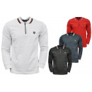 Men's trend polo shirt sweatshirt zipper