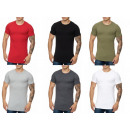 Men's Short Sleeve T-shirt Round neck solid co