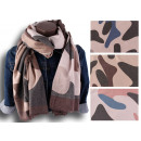 Women Winter Scarf Soft Warm Camouflage Wool Scarf