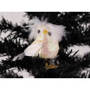 Christmas tree decoration owl with clip pendant
