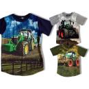 nagyker Ruha és kiegészítők: Kids Boys T-Shirt Traktor Farmer Farmer 2-12 év