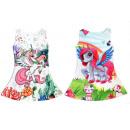 Kinder Trend Mädchen Kleid Einhorn Unicorn Pferd