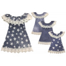 Großhandel Fashion & Accessoires: Kinder Kids Mädchen Jeanskleid Volant Off-Shoulder