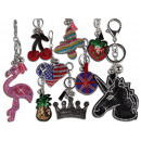 Trendy accessories Colorful bag charm rhinestone