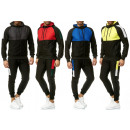 Men's trend jogging suit stripe sports suit