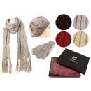 wholesale Gloves: Women's winter  sets hat scarf glove Zopfmuster
