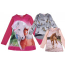 Kids Girls Trend Sweatshirt Horse Shirt Shirts