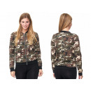 Sporty Trend Ladies Bomber Jacket Camouflage