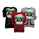 Ladies Woman Christmas Knitted Jumper Gnome