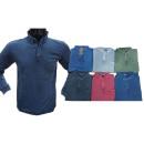 Men's Trend Poloshirt Long Sleeve Pullover Swe