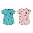 Großhandel Kinder- und Babybekleidung: Kinder Mädchen Trend T-Shirt 2-12 Jahre Sterne